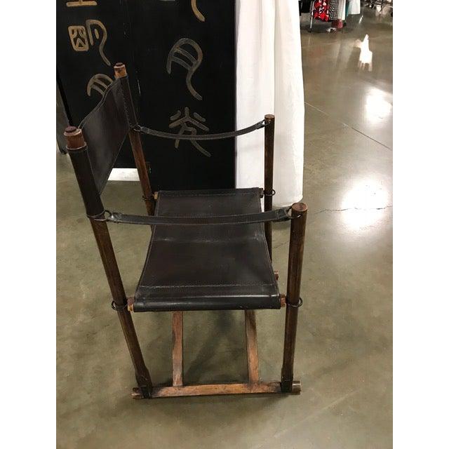 Danish Modern 1930s Vintage Mogens Koch Danish Modern Collapsible Safari Chair For Sale - Image 3 of 7