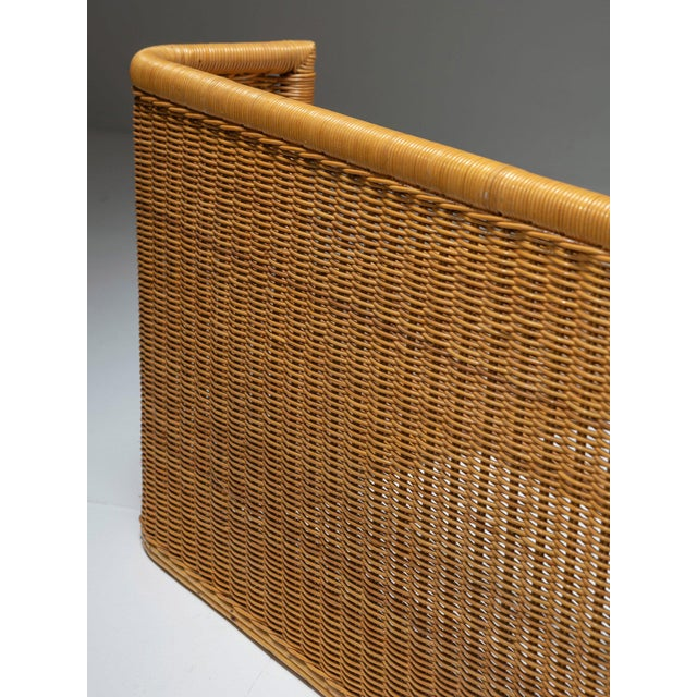 1960s Pair of Single Bed Wicker Frame by Adalberto Dal Lago for Germa For Sale - Image 5 of 7