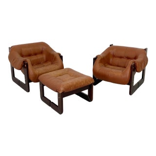 Brazilian Modern Percival Lafer Lounge Chair Set - 3 Pieces For Sale