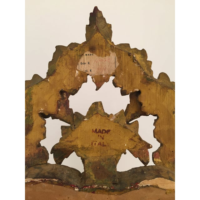 Antique Italian Gothic Gold Leaf Mirror - Image 6 of 11