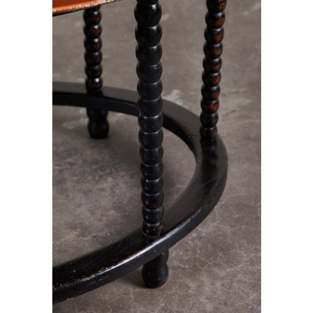 19th C. Danish Tole Tray Table For Sale - Image 4 of 8