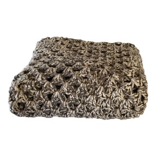 Vintage Handmade Chunky Knit Throw
