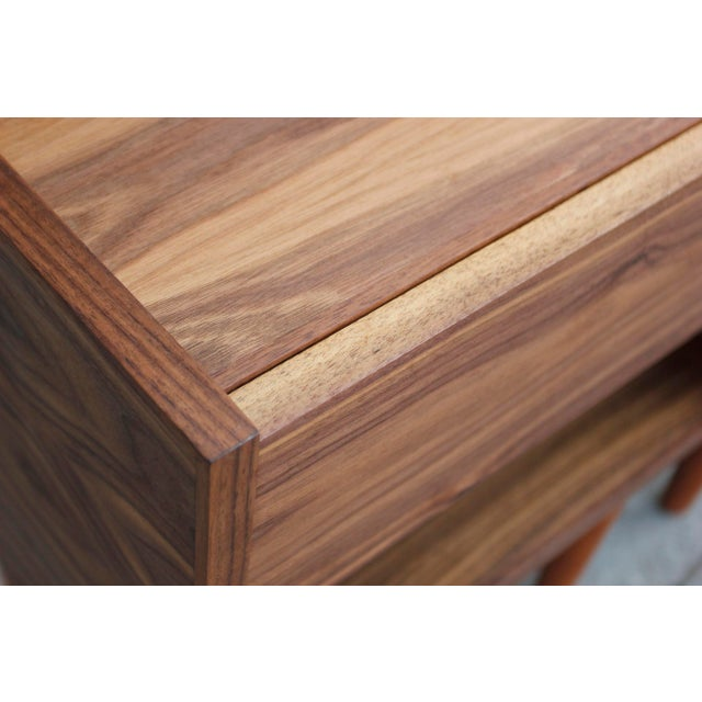 Mid-Century Modern Walnut Night Stands - a Pair For Sale - Image 11 of 12