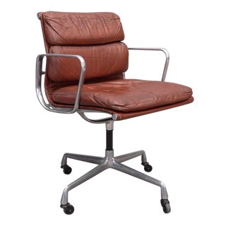 1970s Vintage Herman Miller for Eames Aluminum Group Soft Pad Management Chair For Sale