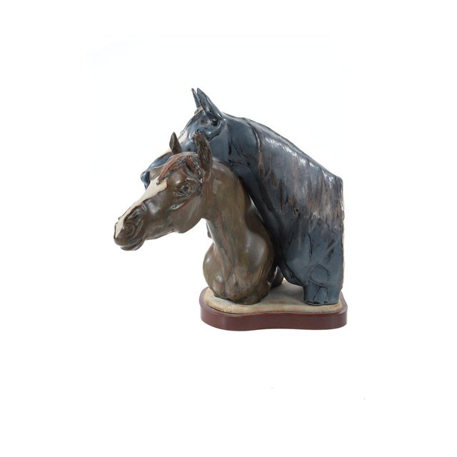 "Jose Roig Porcelain ""Horse Heads"" - Image 7 of 9"