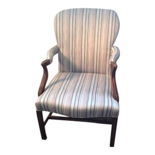 Mahogany Chippendale Style Open Armchair