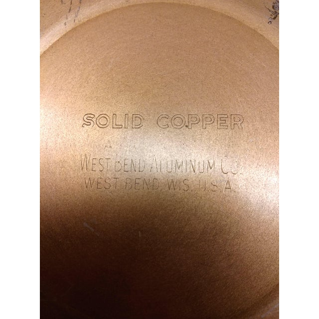 Mid-Century Embossed Solid Copper Pot - Image 3 of 8