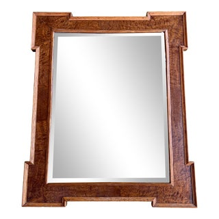1940's Wooden Key Corner Wall Mirror For Sale