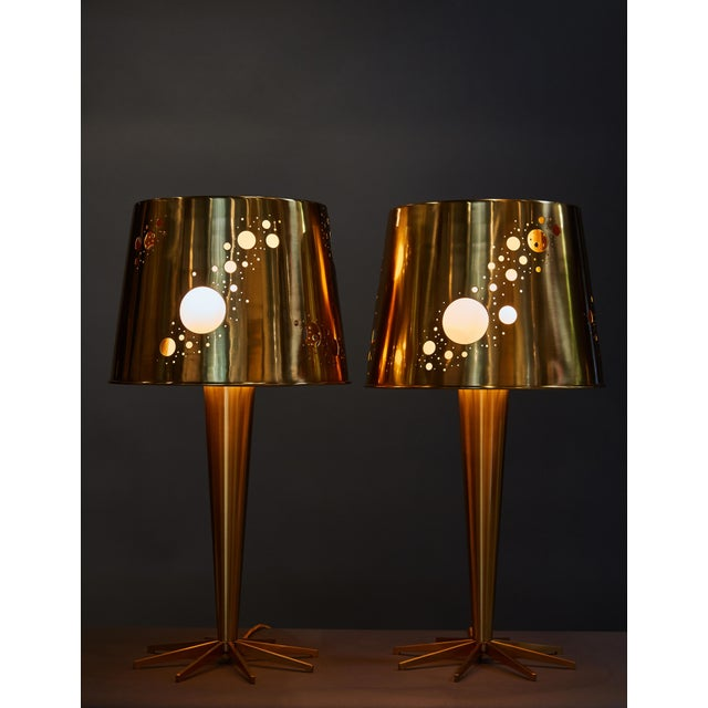 """Contemporary Pair of Roberto Giulio Rida """"Lattea"""" Table Lamps For Sale - Image 3 of 12"""
