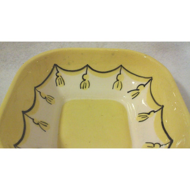 Yellow Ceramic Nut or Trinket Dish For Sale - Image 5 of 5