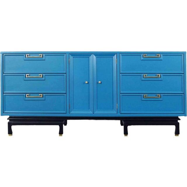 1970s Mid-Century Modern American of Martinsville Lowboy Dresser For Sale