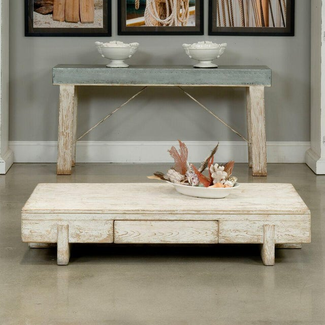 Sarreid Ltd Perth White Coffee Table - Image 7 of 8