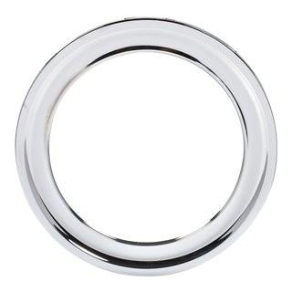 Vintage Circular Chrome Mirror For Sale