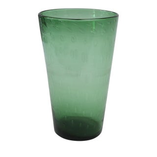 Italian Green Glass Vase For Sale