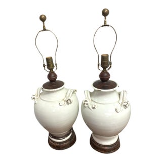 Early 20th Century Italian Style Wescal Lamps - a Pair For Sale