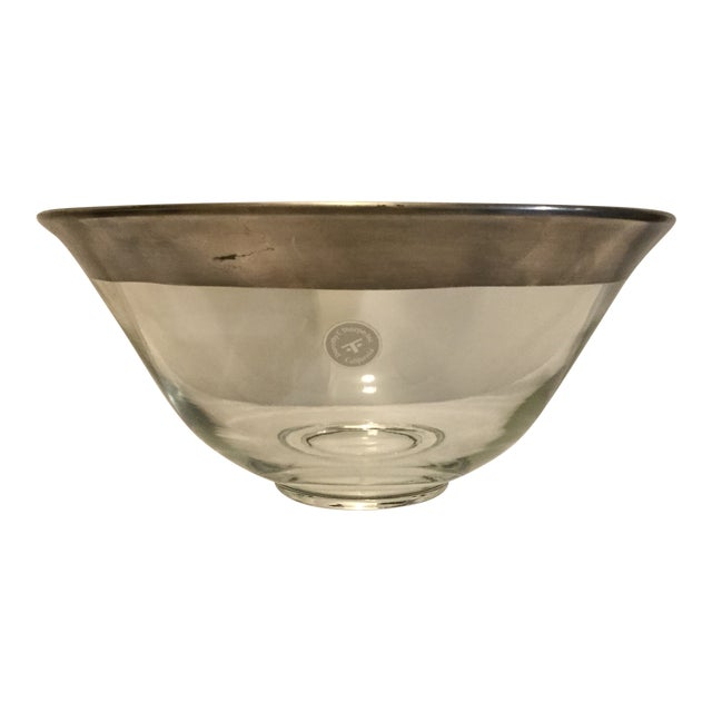 1970s Dorothy Thorpe Crystal Serving Bowl For Sale