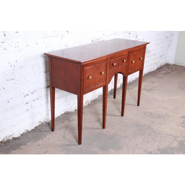 Hekman Furniture Hekman Regency Style Cherry Wood Sideboard Credenza For Sale - Image 4 of 13