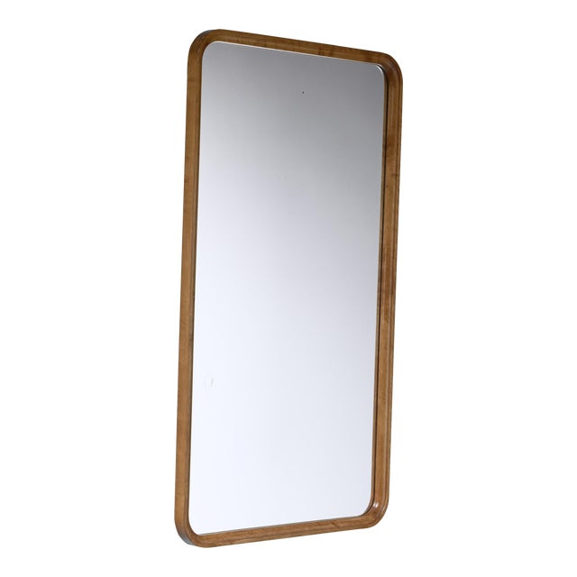 Swedish Rectangular Birch Mirror, 1930s For Sale