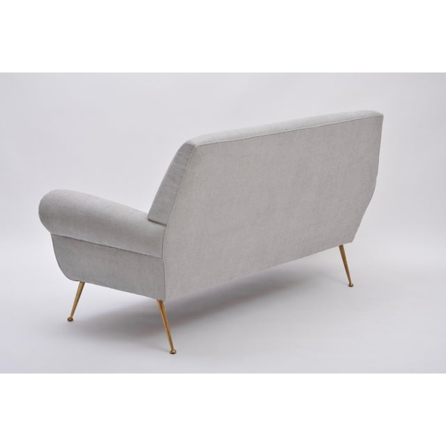 Gray Reupholstered Grey Midcentury Sofa by Gigi Radice for Minotti For Sale - Image 8 of 9