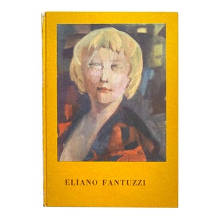 Eliano Fantuzzi Vintage 1961 First Edition Mid Century Modern Italian Exhibition Art Book For Sale