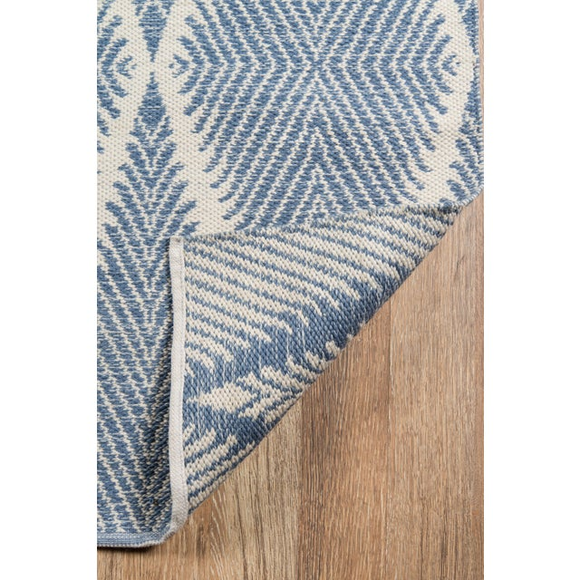 """Erin Gates by Momeni River Beacon Denim Indoor Outdoor Hand Woven Area Rug - 5' X 7'6"""" For Sale - Image 5 of 7"""