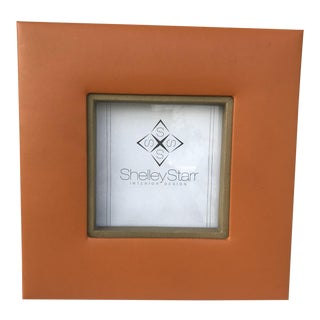 Equestrian Faux Leather Frame Orange