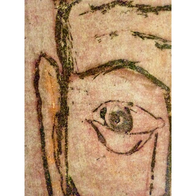Original Cubist Movement Block Print Portrait - Image 4 of 9