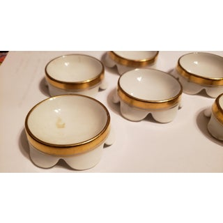 Early 20th Century Regency Haviland & Co. White and Gold Salt Cellars - Set of 6 Preview