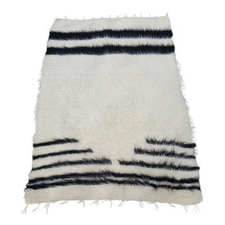 1970s Vintage Turkish Kilim Goat Hair Petite Rug - 2′7″ × 3′9″ For Sale