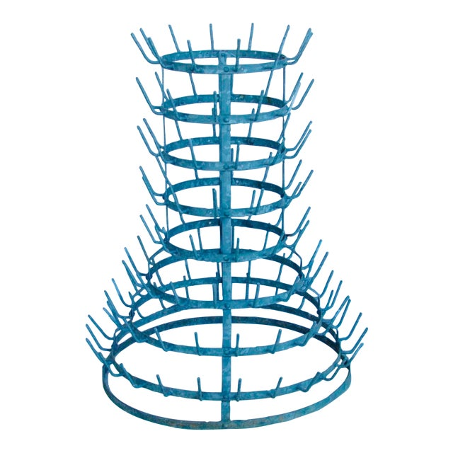 Early 1900s French Zinc Bottle Drying Rack - Image 1 of 9