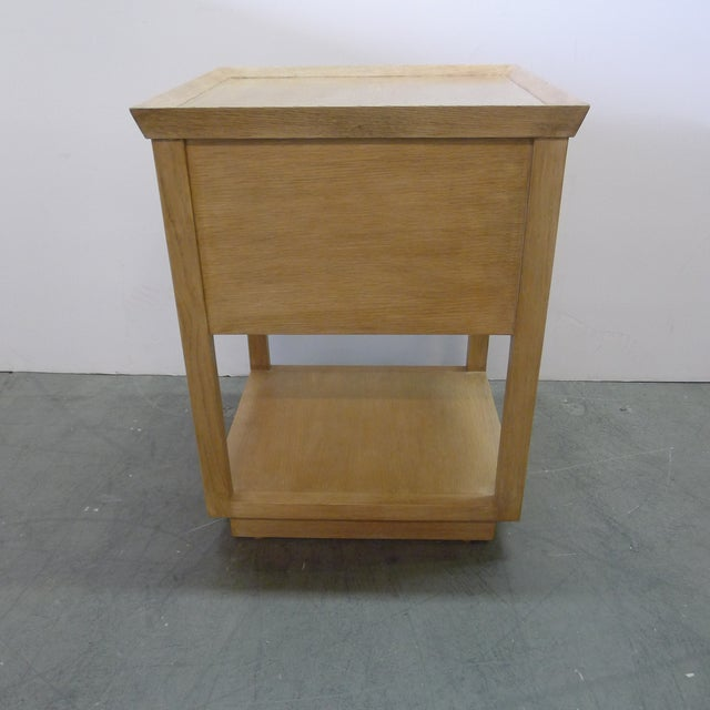 Not Yet Made - Made To Order Paul Marra Two-Tier Nightstand in Rift Sawn Oak Natural Finish For Sale - Image 5 of 10