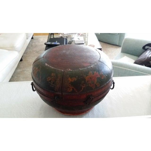 Tibetan Round Wood Box - Image 10 of 10