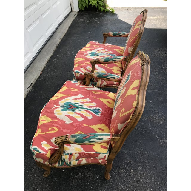French 1980s Traditional French Baker Chairs - a Pair For Sale - Image 3 of 10