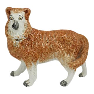 Antique English Staffordshire Collie Dog - C. 1850 For Sale