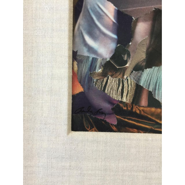 """Abstract Fry Contemporary Framed Abstract Collage """"Satin Doll"""" For Sale - Image 3 of 8"""