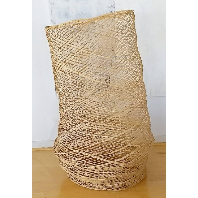 Wood Contemporary Linda Kelly Contemporary Woven Basket Standing Floor Art Sculpture For Sale - Image 7 of 7