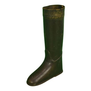 1950s Vintage English Leather Riding Boot Matchstick Holder For Sale