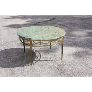 1940s Vintage French Maison Jansen Round Coffee Table Preview