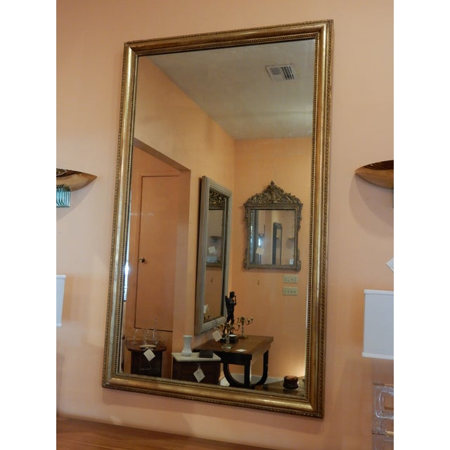 Glass 19th C. French Gold Leaf Mirror For Sale - Image 7 of 7