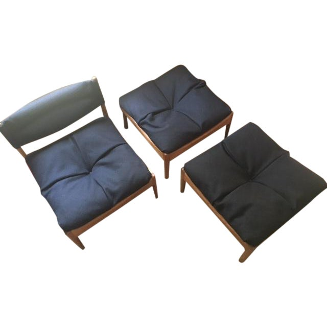 Kristian Solmer Vedel Chair & Stools - Set of 3 - Image 1 of 7