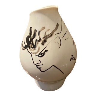 Jean Cocteau Modernist Rosenthal Vase For Sale