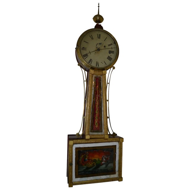 American Banjo Clock, Ca. 1810-30 For Sale - Image 4 of 4
