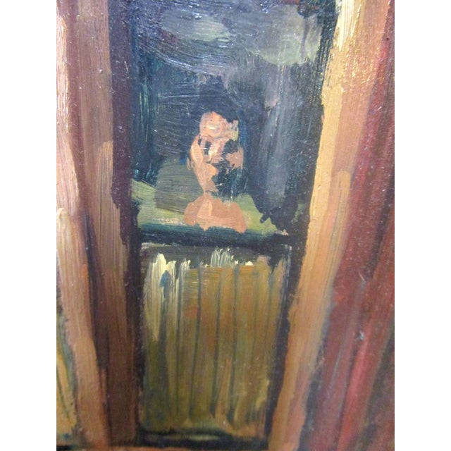 Impressionism Oil Painting of a Brownstone by Wade Zint For Sale - Image 3 of 5