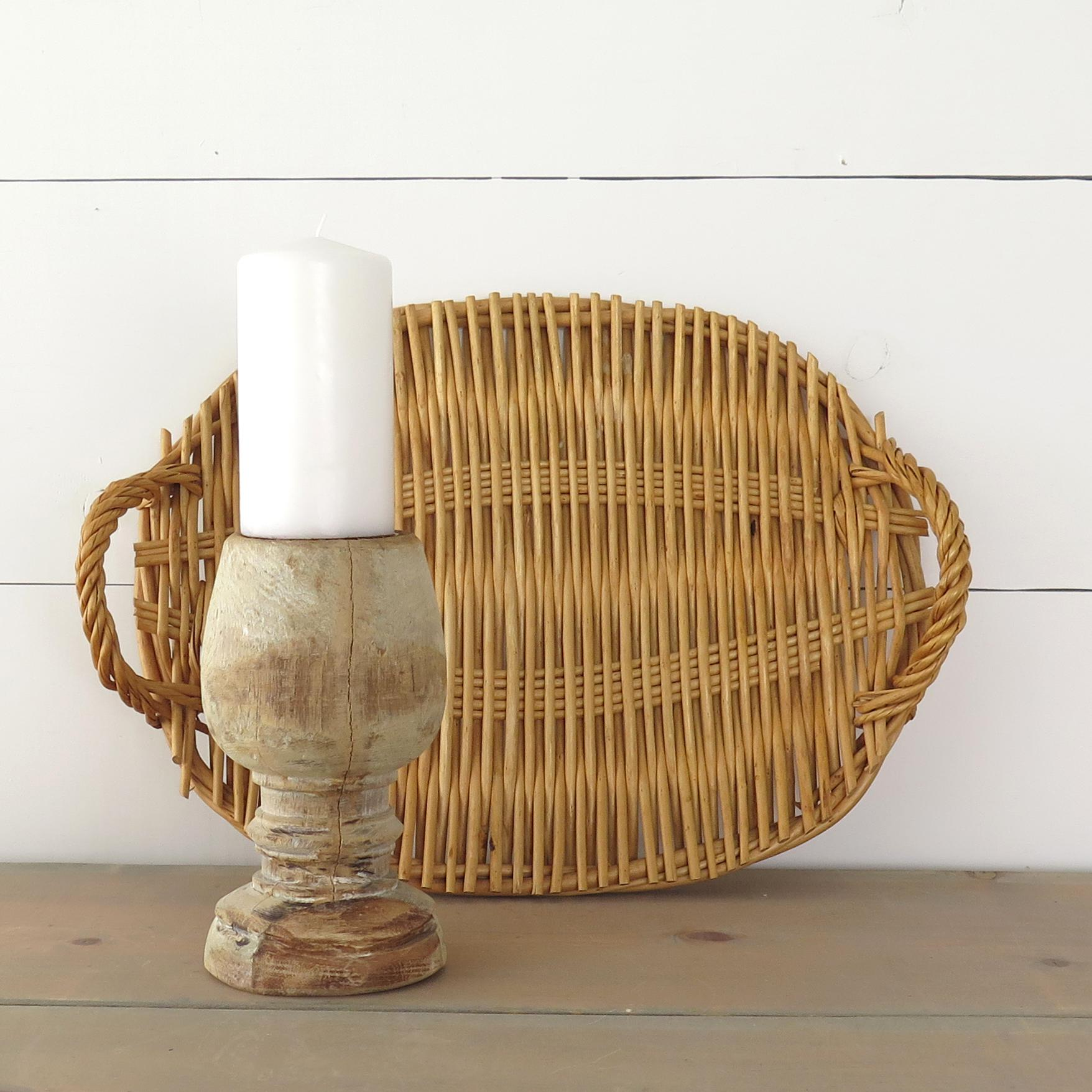 Delightful Oval Rattan Tray   Image 5 Of 7