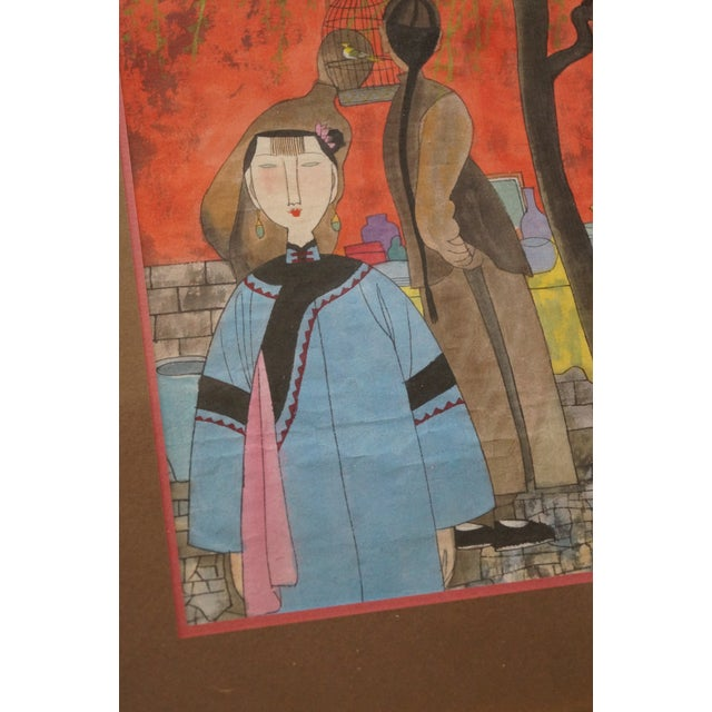 Modern Colorful Chinese Art Print For Sale In San Antonio - Image 6 of 11