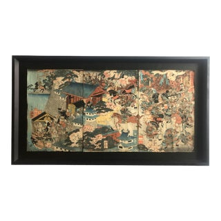Japanese Edo Period Woodblock Print For Sale