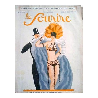 "Leo Bonnotte 1924 ""Le Sourire De Noel"" Le Sourire Cover Print For Sale"