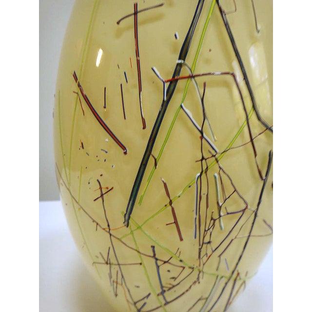 Large Barbini Murano Art Glass Vase For Sale In Miami - Image 6 of 7