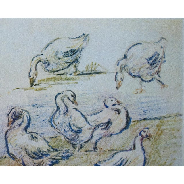 1959 Lithograph of Geese by Alfred Sisley For Sale - Image 4 of 11