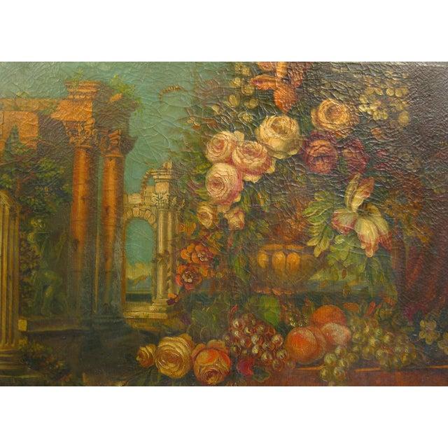 Vintage Italian Floral Still-Life Oil Painting - Image 2 of 5